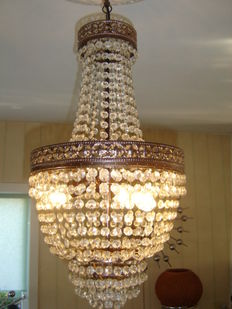 Beautiful chandelier, marked Cristalstrass, chandeliers - second half 20th century