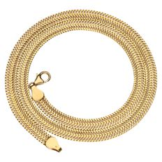 Yellow gold double curb link necklace in 14 kt. Length: 45 cm