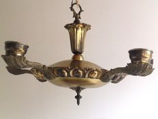 Large bronze Empire style five crown, early 20th century