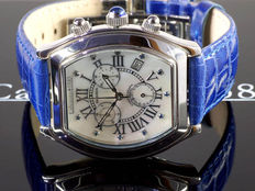 "Calvaneo 1583 SWISS ""SAPHIRON"" genuine mother of pearl men's chronograph - new"