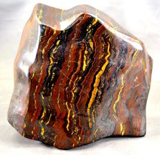 Finely polished, multi-coloured Tiger's Eye - 149 x 141 x 78mm - 3431gm