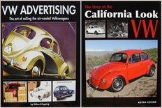2 Books on Vintage Volkswagen : VW Advertising and The Story of the California Look VW