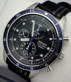 Seiko Chronograph 100M Black - Men's chronograph watch