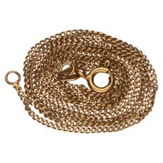 Yellow gold curb link necklace in 14 kt Length: 57 cm.