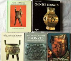 Lot with 5 books on antique Chinese bronzes – 1980/1995