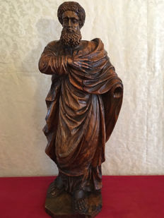 Wooden sculpture of a Saint - late 17th / early 18th century
