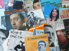 "French 1960's Artists - Lot of 20 original 7"" EP's and 30 original 7"" singles (incl. one acetate) (various labels 1950-1973)"