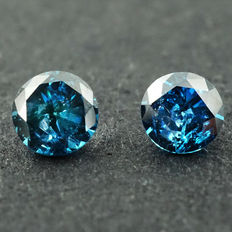 Fancy Blue Diamond - 0.26 ct
