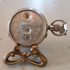 U.S SYST. BREVETTE - pocket watch with digital display - circa 1900