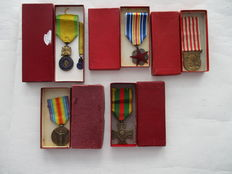 France - Set of 5 medals in original packing