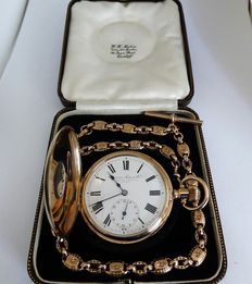 ROLEX. swiss gents half hunter . super rare. limited model. circa 1920s. {ref no 68}