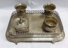 Sterling silver inkstand. Portugal. 19th century.