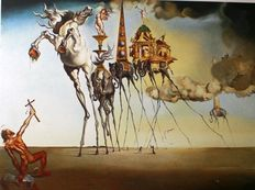 Salvador Dali (after) - La tentation de Saint Antoine