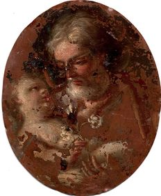 Circle of Benedetto Luti (16th - 17th century) - Saint Joseph with baby Jesus