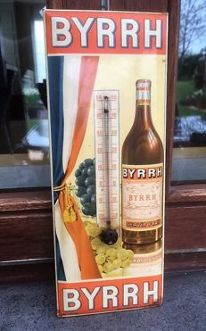 "VINTAGE GLACOIDE THERMOMETER ""BYRRH"" 1930-40s"