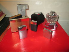 Collection of 8 lighters - Ronson - Maruman - Sim luxe - Rowenta - 20th