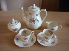 Gouda Plazuid - all coffee - sugar - pot with milk and 2 cups with saucer
