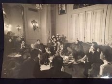 Signed; Original photograph of Che Guevara and Fidel Castro meeting with Chinese government - 1960's