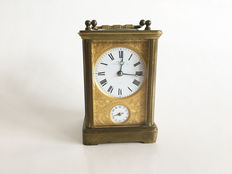Desk travel officier french clock - Second half of the 19th century.
