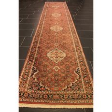 Oriental carpet, Indo Bidjar Herati, runner, 400 x 80cm, made in India