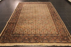 Oriental carpet, Indo Bidjar Herati, 200 x 300cm, made in India at the end of the last century
