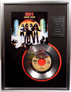 "KISS - Love Gun -  7"" Single Casablanca Records platinum plated record Special Edition"