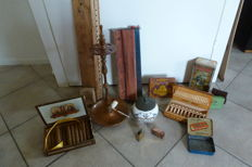 Lot of smokers' requisites and accessories-20th century-with separate items