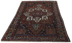 Authentic, original, antique Qashqai SHIRAZ rug (3860) – Persian (IRAN) – 203 x 148 cm – With certificate of authenticity from official expert – (Farah Gallery 1970).