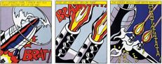 Roy Lichtenstein - 'As I Opened Fire' - Triptych - (1966)