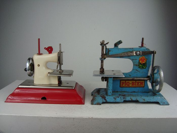 Two Small Sewing Machines Catawiki Impressive Small Sewing Machines