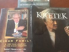 3 books about cigars and (Kretek, it means with clove powder)) tobacco and cigarettes