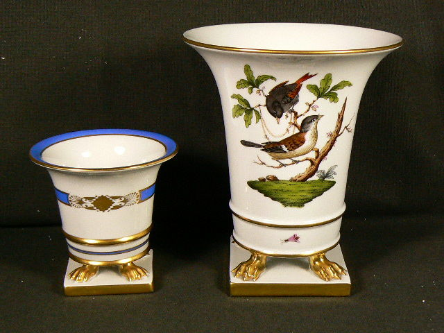 Herend Two Fine Vases On Foot Catawiki