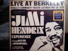 Lots of 3 Jimi Hendrix, Live At Berkeley 2 Lp + 8 Page Booklet 180 gram Analog audiophile vinyl,  Miami Pop Festival 2 Lp + 8 Page Booklet 180 gram audiophile vinyl, Are You Experienced Mono 180 Grams audiophile vinyl