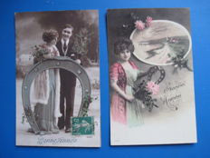 Old postcards on the theme of the Horseshoe (60 x)