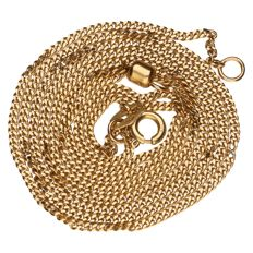 14 kt yellow gold curb necklace - length: 62 cm.