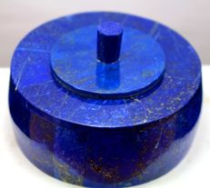 Finest quality Royal Blue Lapis Lazuli jewellery box - 93 x 57mm - 315gm