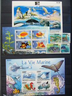 Marine life – Themed collection in stock book