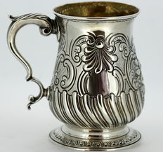 Antique Solid Sterling Silver Tanker Cup, London 1770, William & James Priest