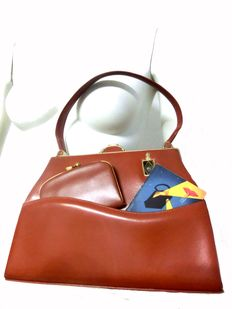 1950s STRAETER Lite-On 24 kt gold-plated with purse and original Description