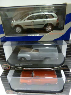 Trofeu / Minichamps - Scale 1/43 - Lot with 3 models: 2  x Volvo 445 Duett 1956 & 1 x Volvo XC90 2003