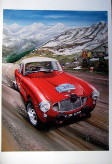 Fine Art : Austin Healey 3000 Coupe #146 - Coupe Des Alpes
