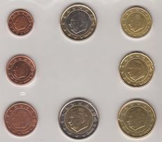 Belgium - Year set 1 Cent up to 2 Euro 2000 (8 coins)