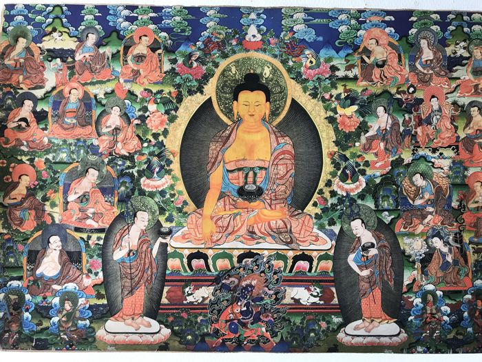 Thangka-Bohhda-Tibet/late 20th century