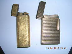 Dupont and Cartier gold plated lighters