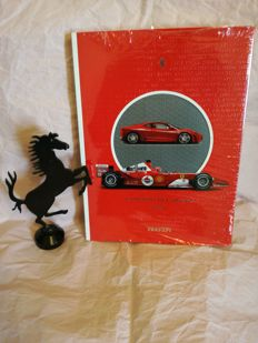 Ferrari - 2004 Yearbook and Metal sculpture