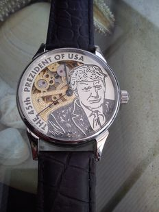 "Molnija ""Donald Trump"" 45 President of USA - XL skeleton heren polshorloge"
