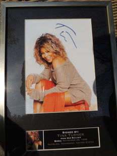 Tina Turner - Signed  Picture  - Pre Printed  - Framed