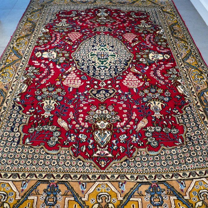 Very special, old Qom Persian carpet - 203 x 140 - UNIQUE OPPORTUNITY