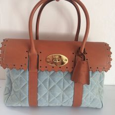 Mulberry – Bayswater, quilted denim handbag  – limited edition.