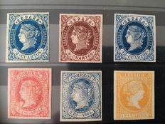 Spain 1859/1937 - Lot of loose stamps and series - Edifil NE1, 57, 58, 59, 64, 68, 630s/635s, 726s.